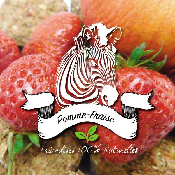 pomme séchée avec de la fraise chez sucre d'orge