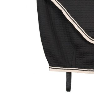 detail chemise thermo noire et beige greenfield