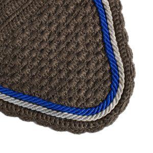 bonnet gris et bleu royal