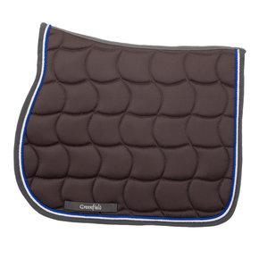 tapis de selle gris et bleu royal